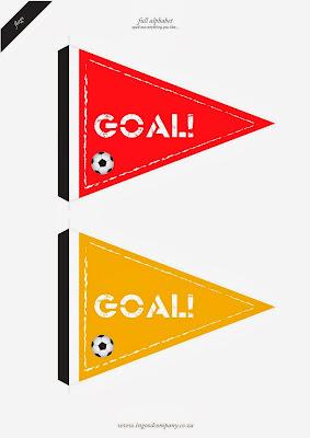 Banderines de Goal.