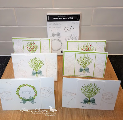 Wishing You Well, Colour Creation Blog Hop, Art with Heart, Christmas Cards, Just a note cards, Granny apple Green