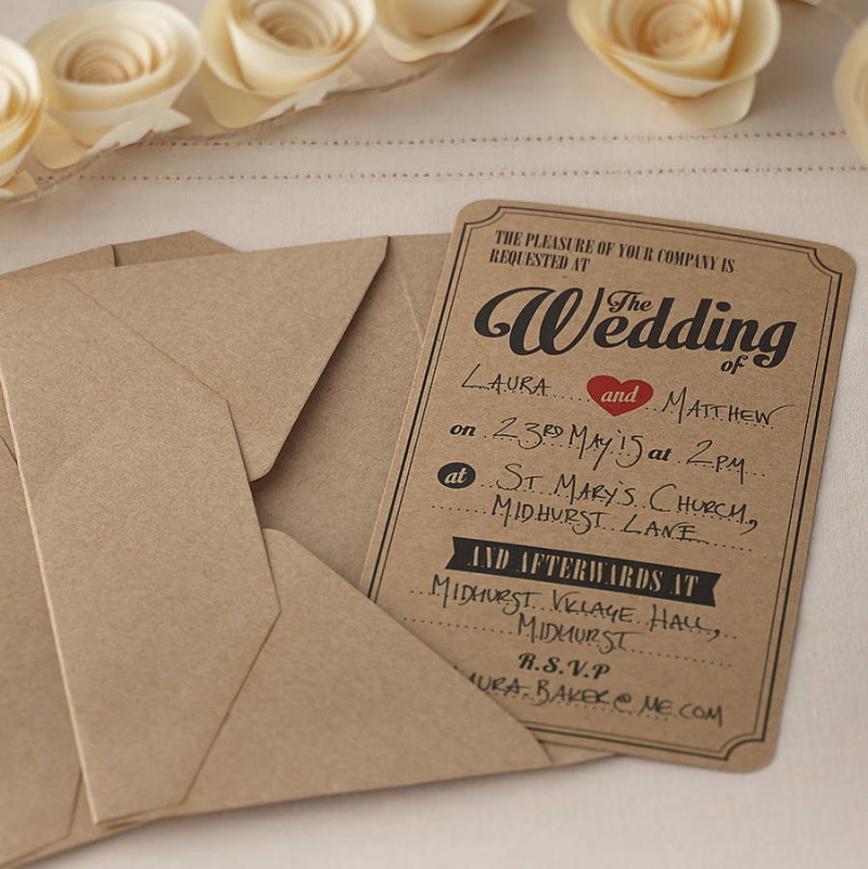 Retro Wedding Invitation - All About Wedding