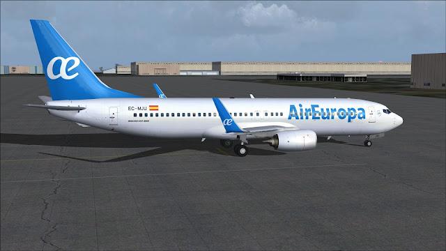 FSRepainter: TDS 737-800W Air Europa EC-MJU