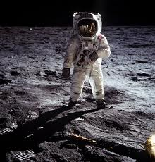 U.S. astronaut on the moon