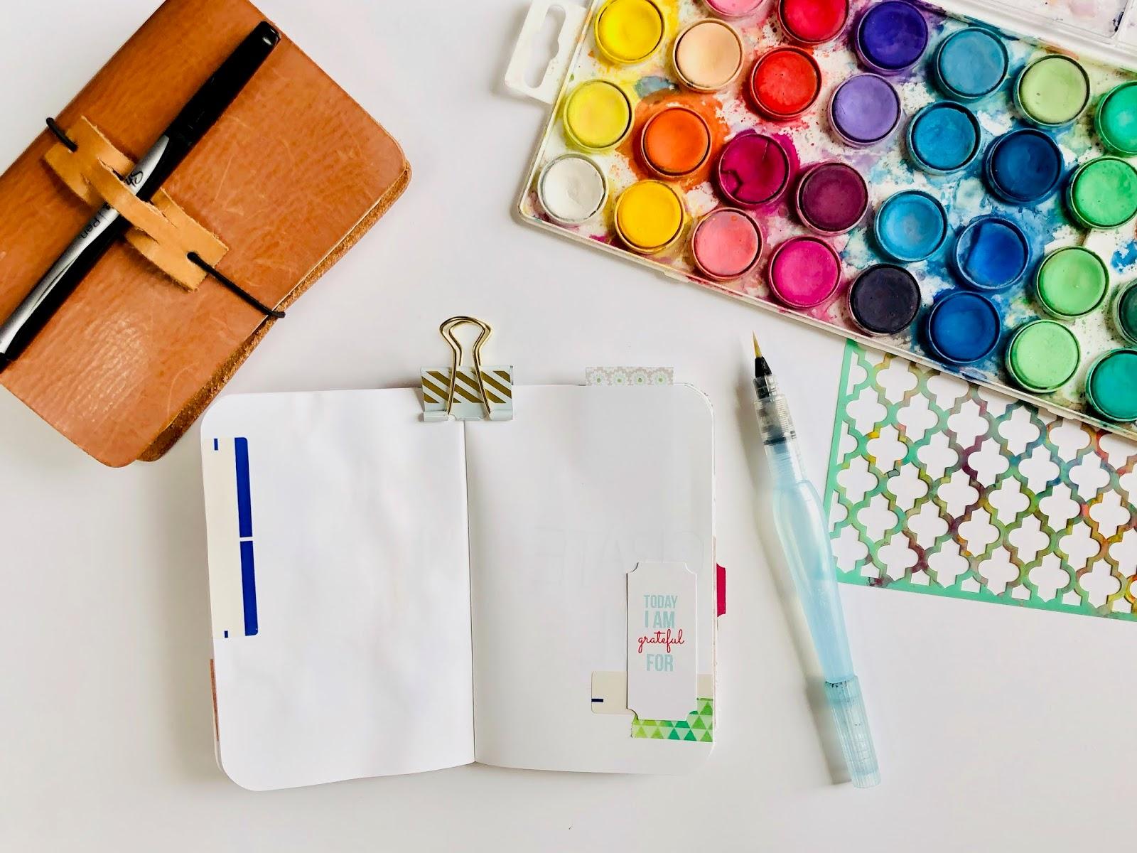 #Travelers Notebook #stamping #Gratitude Journal #journaling #Midori #Planner #notebook #thankfulness #gratitude #grateful #art journal #art journaling