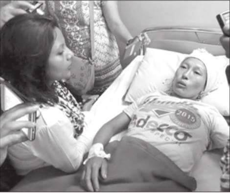 Victim of alleged police torture Ms. Kala Subba