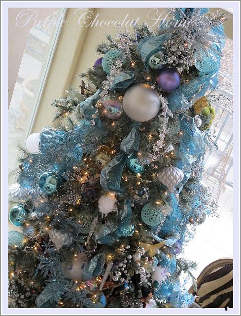 icy aqua splendor my new christmas tree decor - Aqua Christmas Tree