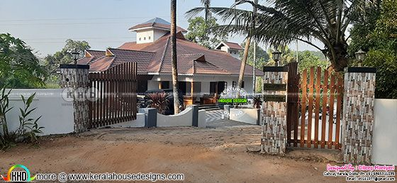 Finished Kerala home design front view