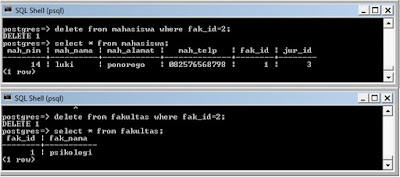 Kelas Informatika - Delete Data Fakultas Saintek
