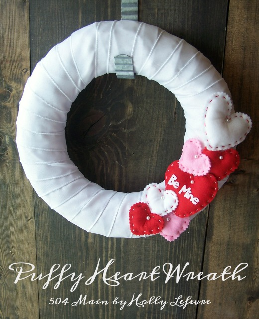 The wreath is simple to make and adorable for your Valentines celebration.