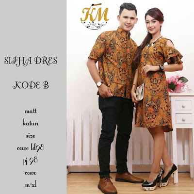 Batik Couple Modern Dress Wanita Sifha kode B Motif Merak