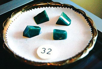 Rough jade for sale at the emporium