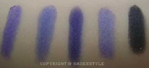BeautyUK Eye Shadow Palette No 5 Twilight Swatches