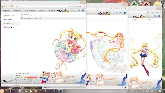 Windows 10 Ver. 1803 Theme Sailormoon Crystal by Enji Riz