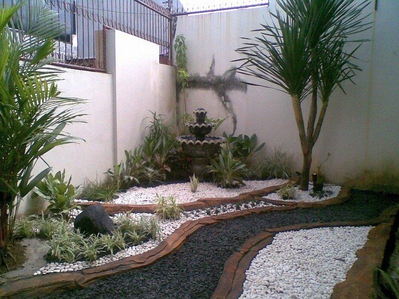 membuat taman kecil didepan rumah yg inspiratif
