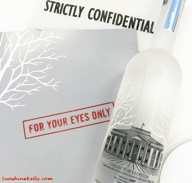 Belvedere Vodka SPECTRE 007, martini should be served Shaken or Stirred,