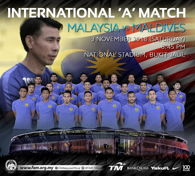 Live Streaming Malaysia vs Maldives 3.11.2018