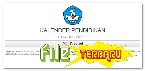 Download Kalender Pendidikan 2016 2017 Terbaru Lengkap Seluruh Provinsi File Terbaru