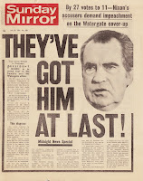 Image result for Watergate scandal headlines