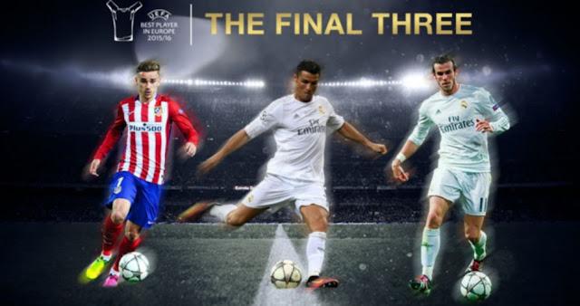 Tiga Besar Kandidat Pemain Terbaik di Eropa