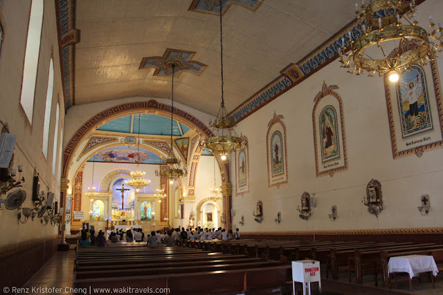 Interior of St. Louis Parish Lucban Church, Quezon