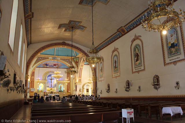 Interior of St. Louis Parish Lucban Church, Quezon