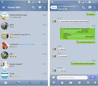 BBM Mod Iphone Style Ios v3