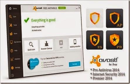 Avast pro antivirus and internet security full virsion free.
