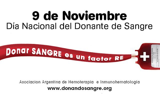 Campañas de donación voluntaria de sangre en noviembre
