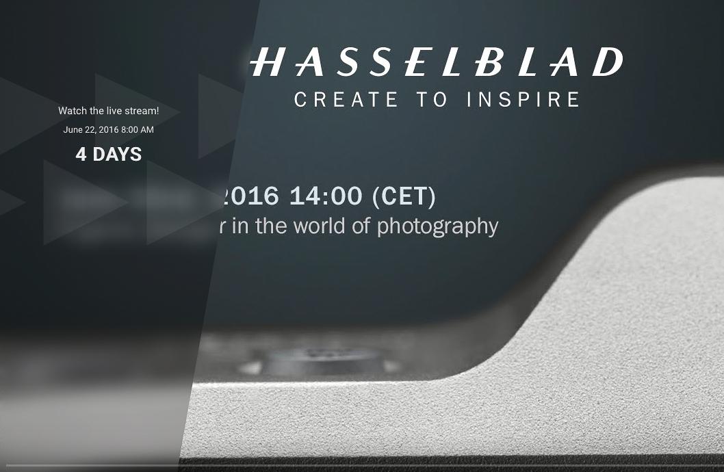 Анонс нового продукта Hasselblad