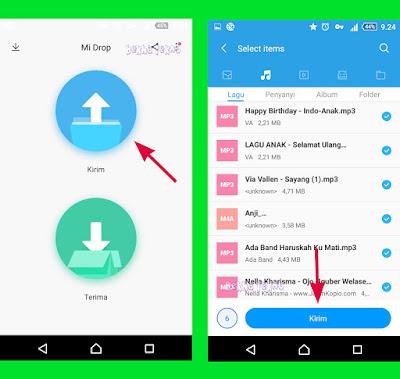 Cara Mengirim (Transfer) Gambar, Video, Kontak Dan File Apapun  Ke Hp Lain Tanpa Menggunakan Internet