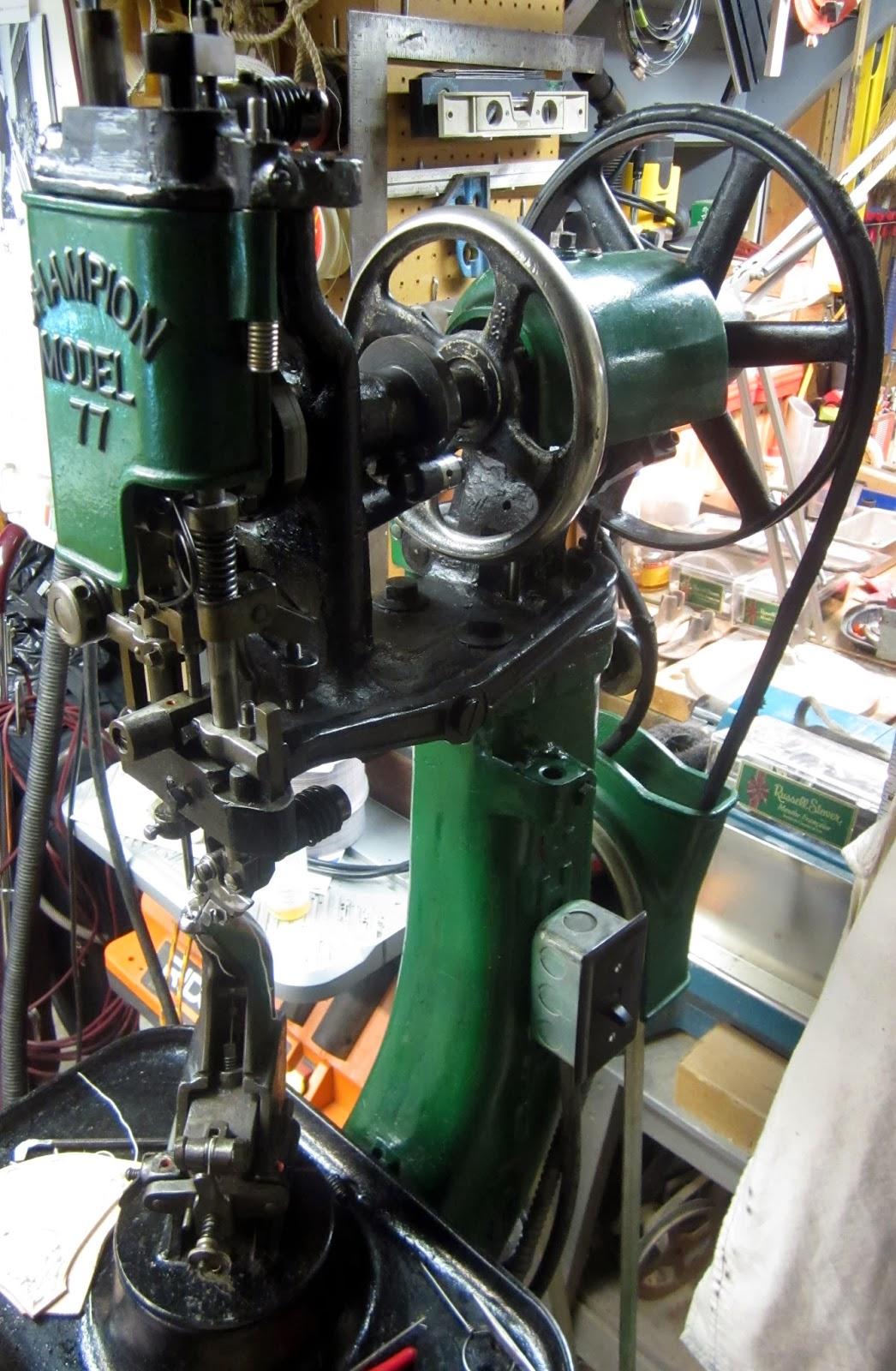 MI Vintage Sewing Machines: McKay Champion 77 Stitcher (19??)