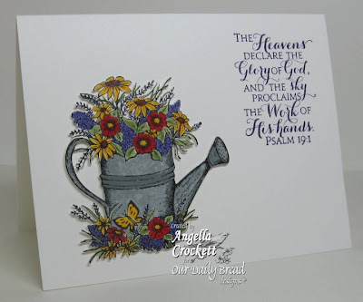 "Our Daily Bread designs ""Happy Birthday"", ""Scripture Collection 9"" Designer Angie Crockett"