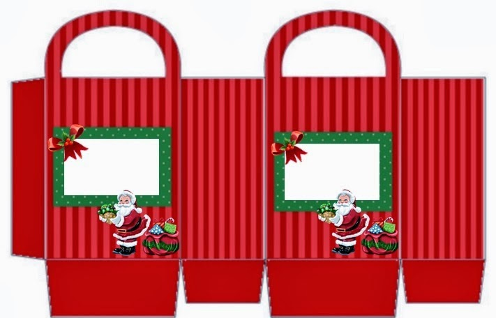 Santa in Christmas,  Free Printable Box