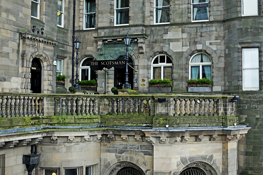 Arriving in Edinburgh: The Scotsman Hotel