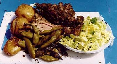 Foto de la pachamanca servido en restaurante