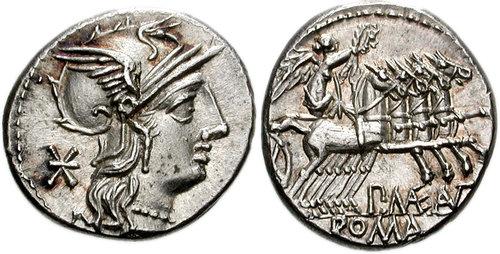 Denario de P. Maenius Antiacus