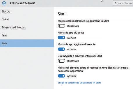 come mostrare Applicazioni in evidenza schermata di blocco windows 10