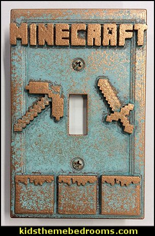 Minecraft - Light Switch Covers   minecraft bedroom ideas - minecraft bedroom decor
