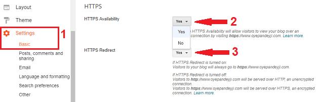 Enable Blogger HTTPS in custom domain