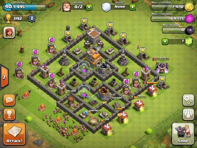 clash of clans 7 town hall