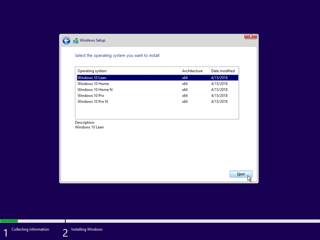 Windows-10-Lean