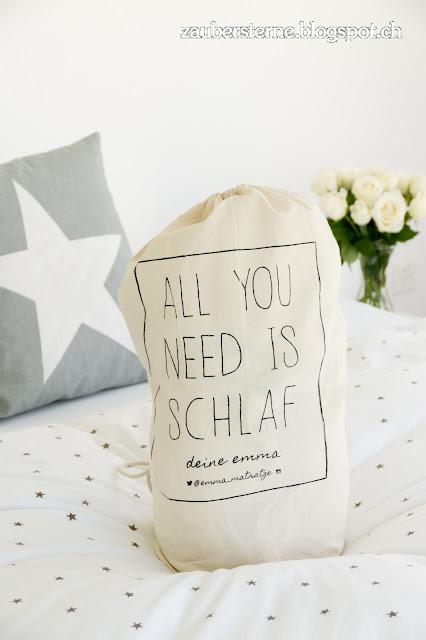 emma matratze, gute Matratze, Bettwäsche Sterne, Bettwäsche weiss, Blog Schweiz