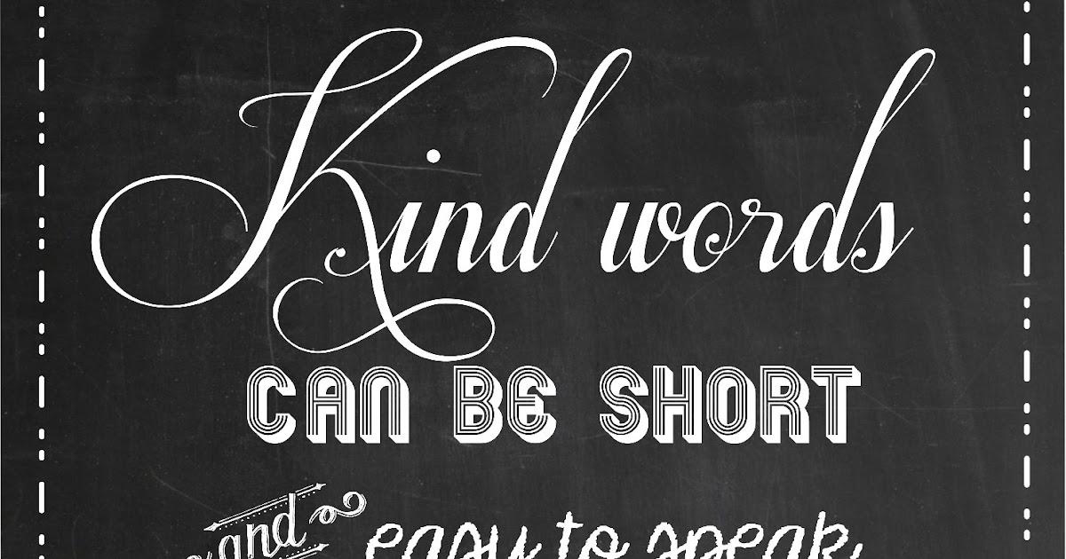 SUBLIMEliving: More Chalkboard Art Quote: Kind Words