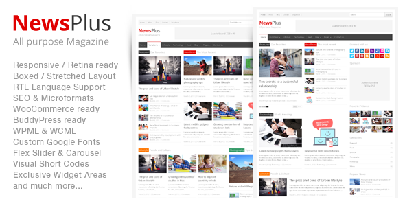 NewsPlus Magazine/Editorial WordPress Theme