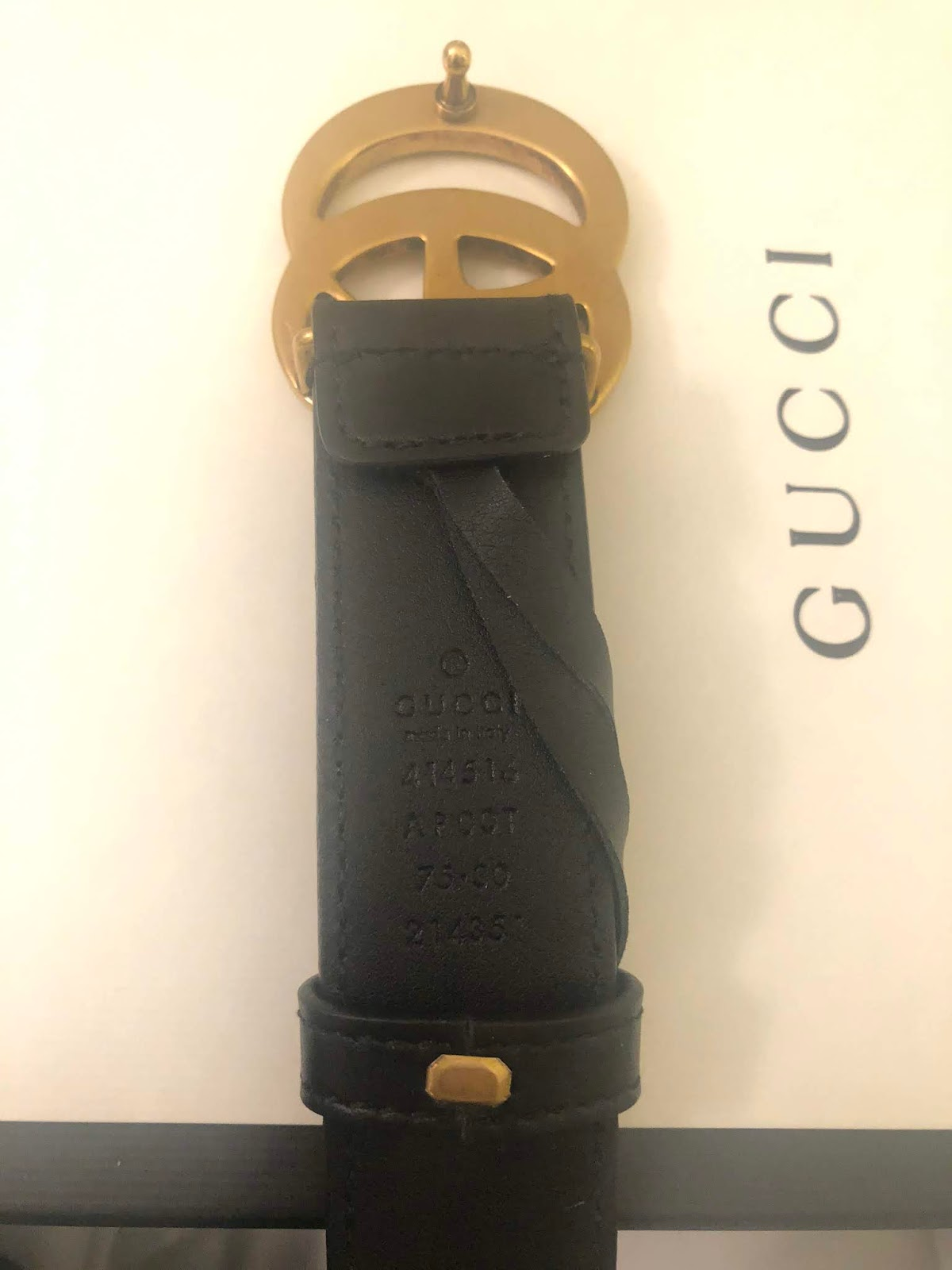 ecd2b11c51f 12 Ways To Tell if Your Gucci Belt is Fake - Her Closet Image