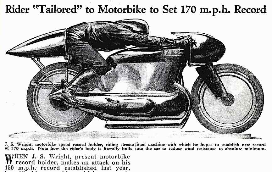 a 1932 motorcycle speed record attempt