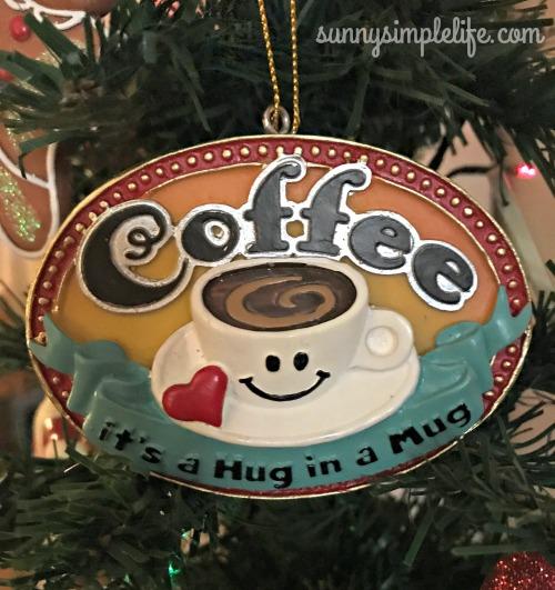 Coffee Christmas Ornament.Sunny Simple Life Christmas Coffee Love