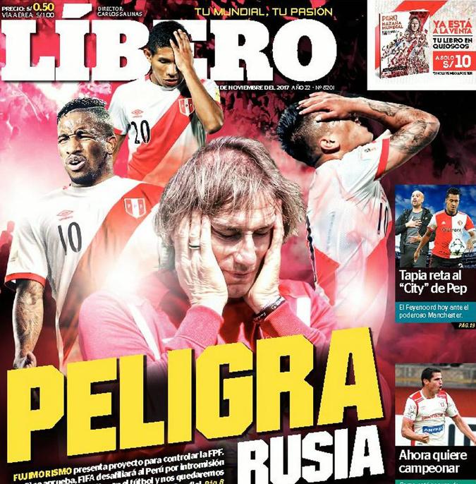 Nóng: Peru bị loại khỏi World Cup 2018, Italia, Hà Lan được chọn?