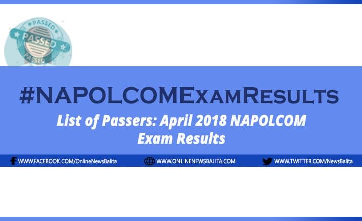 NAPOLCOM Result April 2018: Police Inspector Exam Passers