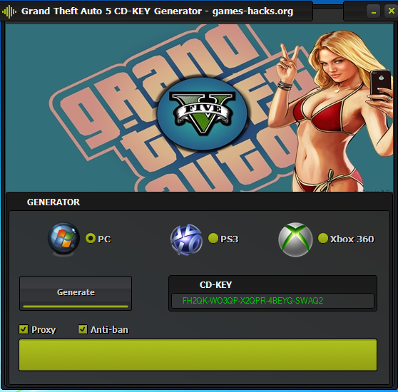 GTA 5 Serial Keygen + CRACK + Money Hack Free Download [NO