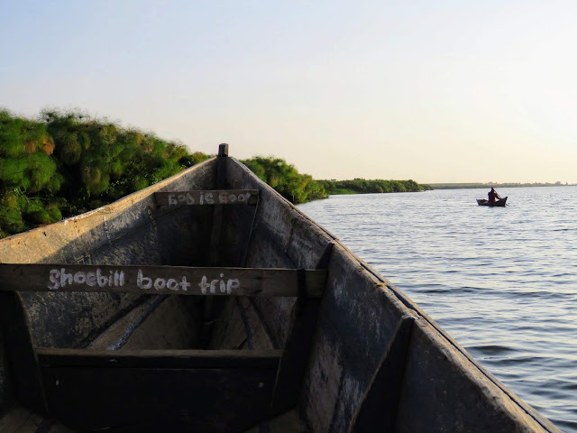 Boat on Lake Victoria near Entebbe in Uganda