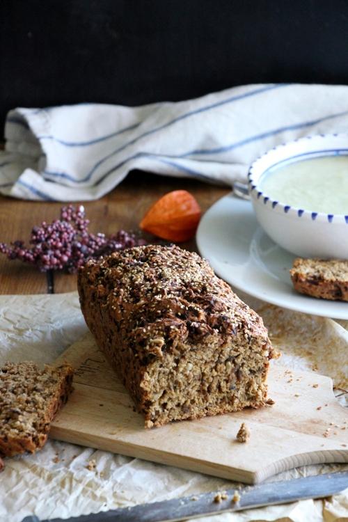 Rote Beete Brot, Vollwertig, vegan und super saftig